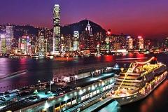 香港 ハーバクルーズからの夜景